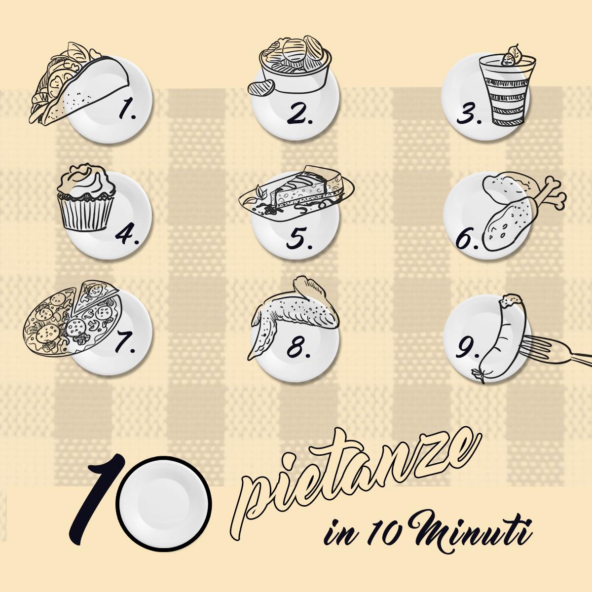 10 pietanze in 10 minuti